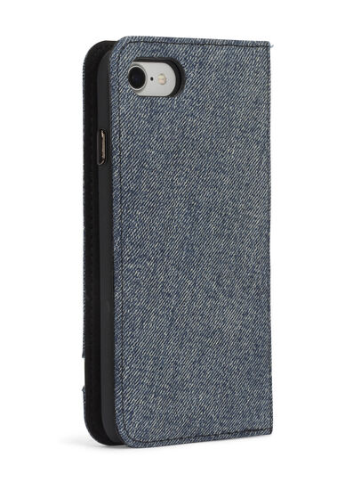 Diesel - DENIM IPHONE 8/7 FOLIO, Jeansblau - Klappcover - Image 6