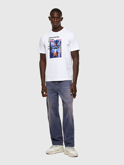 Diesel - T-JUST-A43, Bianco - T-Shirts - Image 4