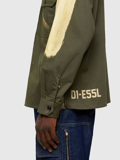 Diesel - S-BUNNELL, Verde Oliva - Camicie - Image 4