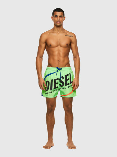Diesel - BMBX-WAVE 2.017, Vert - Boxers de bain - Image 1