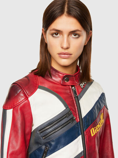 Diesel - L-POLLY, Rosso - Giacche di pelle - Image 3