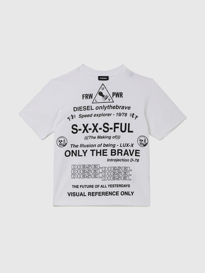 Diesel - TBALLX2 OVER, Bianco - T-shirts e Tops - Image 1