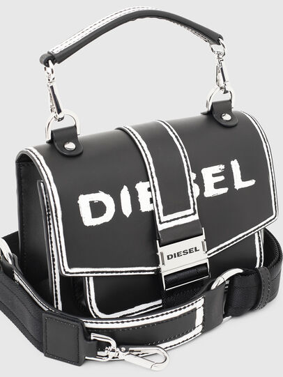 Diesel - MISS-MATCH CROSSBODY, Schwarz/Weiß - Schultertaschen - Image 4