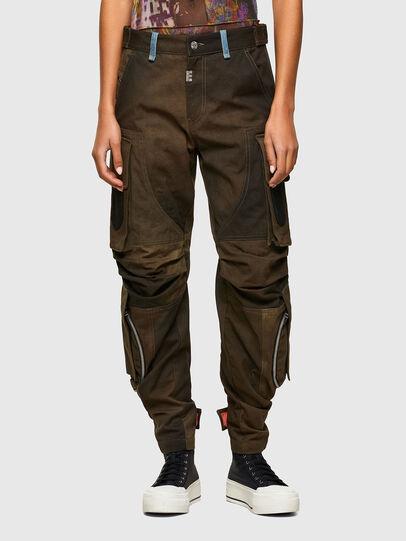 Diesel - P-JANE, Verde Militare - Pantaloni - Image 1