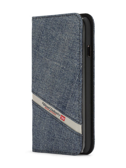 Diesel - DENIM IPHONE 8/7 FOLIO, Jeansblau - Klappcover - Image 3