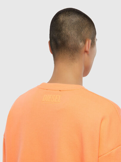 Diesel - S-MART-FLU, Orange - Sweatshirts - Image 4