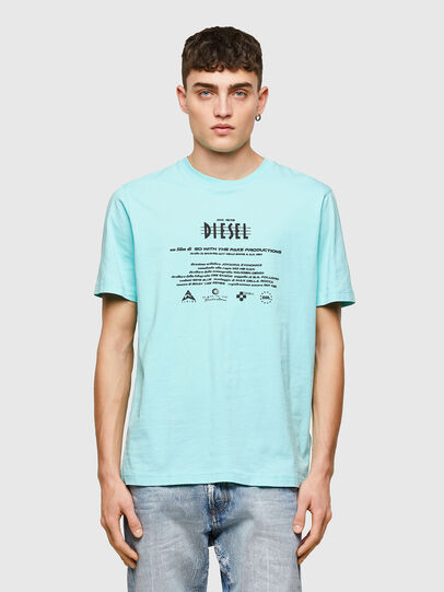 Diesel - T-JUST-E9, Hellblau - T-Shirts - Image 1