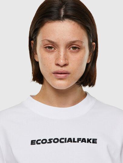 Diesel - T-RECROP, Bianco - T-Shirts - Image 3