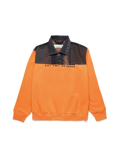 Diesel - D-BNHILL-S, Orange - Sweatshirts - Image 1