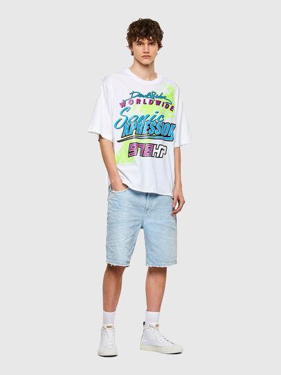 Diesel - T-DELPHONE, Bianco - T-Shirts - Image 4