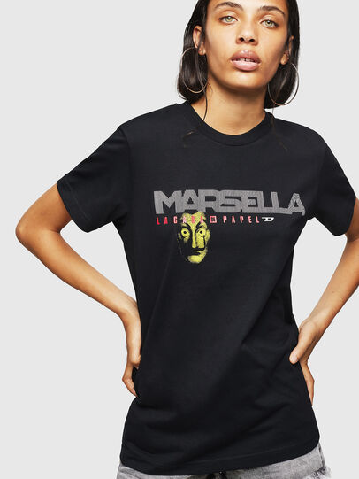 Diesel - LCP-T-DIEGO-MARSELLA, Schwarz - T-Shirts - Image 2