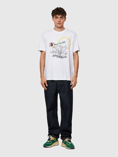 Diesel - T-JUST-B60, Blanc - T-Shirts - Image 4