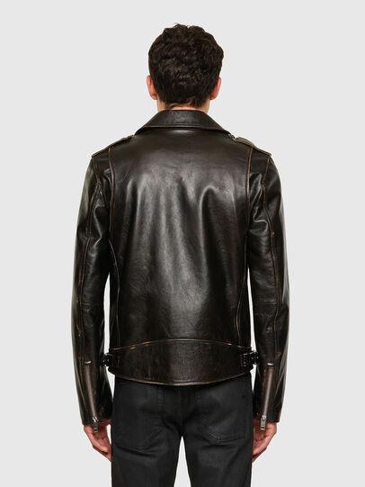 Diesel - L-GARRETT-NEW, Black - Leather jackets - Image 2