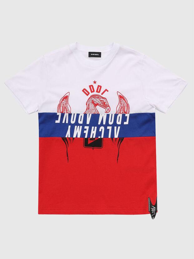 TJUSTA1, Weiß/Rot/Blau - T-Shirts und Tops