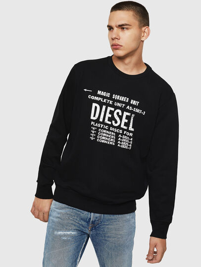 Diesel - S-GIR-B5, Schwarz - Sweatshirts - Image 1