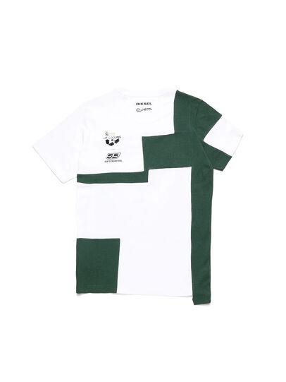 Diesel - D-FRANKENSTEIN 2.1, Weiß/Grün - T-Shirts - Image 2