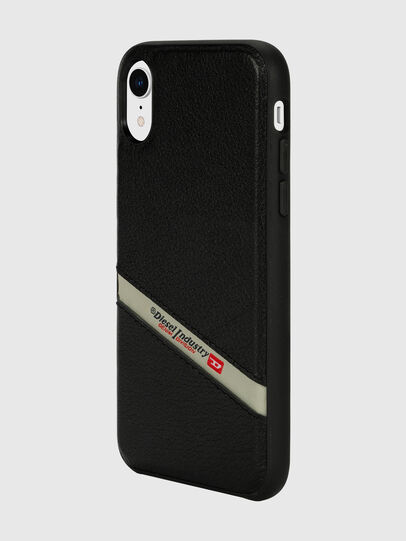 Diesel - DIESEL LEATHER CO-MOLD CASE FOR IPHONE XR, Schwarz - Schutzhüllen - Image 5