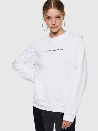 Diesel - F-LYANY-F, Weiß - Sweatshirts - Image 1