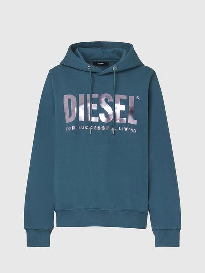 Diesel - F-ANG-HOOD-LOGO, Wassergrün - Sweatshirts - Image 1