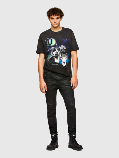 Diesel - T-JUST-A37, Nero - T-Shirts - Image 4
