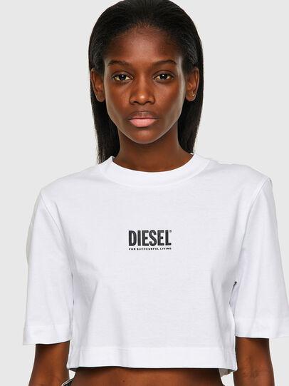 Diesel - T-RECROP-ECOSMALLOGO, Blanc - T-Shirts - Image 3