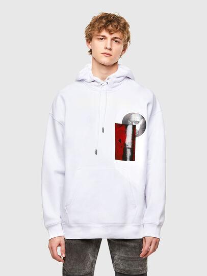 Diesel - S-HENON, Weiß - Sweatshirts - Image 1
