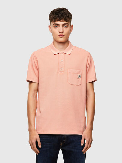 Diesel - T-POLO-WORKY-B1, Rose Poudré - Polos - Image 1