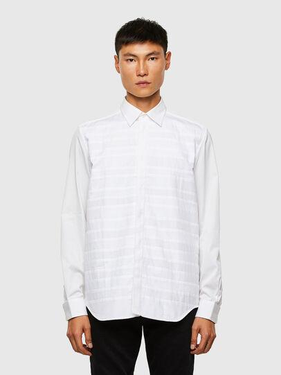Diesel - S-WEIR, Blanc - Chemises - Image 1