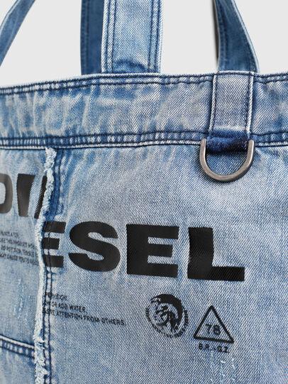 Diesel - D-THISBAG SHOPPER L, Hellblau - Shopper und Schultertaschen - Image 4