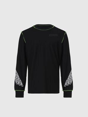T-JUSEAM-LS, Schwarz - T-Shirts