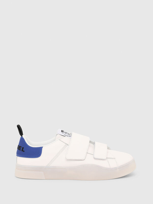 S-CLEVER LOW STRAP, Weiß/Blau - Sneakers