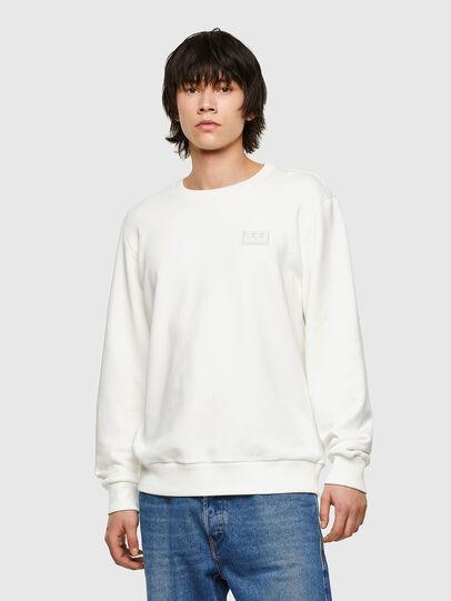 Diesel - S-GIRK-E1, Blanc - Pull Cotton - Image 1