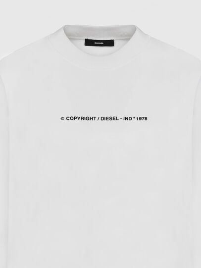 Diesel - S-BIAY-COPY, Weiß - Sweatshirts - Image 3