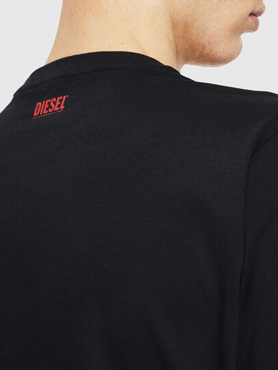 Diesel - T-JUST-J9, Schwarz/ Rot - T-Shirts - Image 5