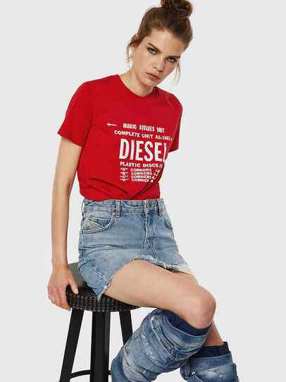 Diesel - T-SILY-ZF, Feuerrot - T-Shirts - Image 4
