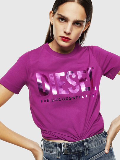 Diesel - T-SILY-WX, Violett - T-Shirts - Image 4