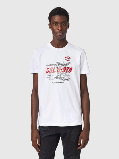 Diesel - T-DIEGOS-B82, Blanc - T-Shirts - Image 1