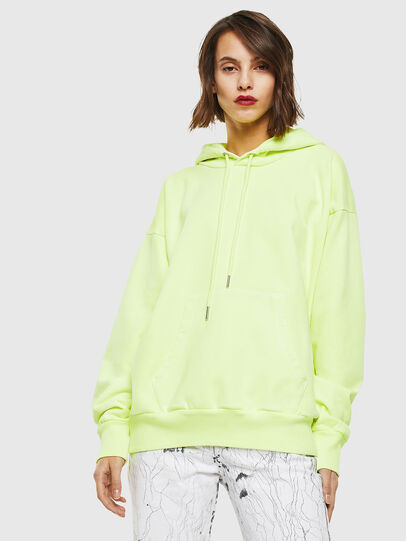 Diesel - S-ALBY-FLUO, Neongelb - Sweatshirts - Image 2
