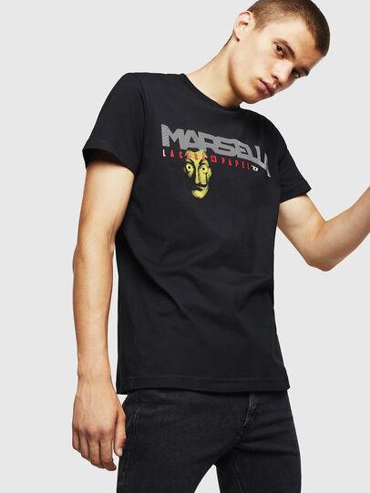Diesel - LCP-T-DIEGO-MARSELLA, Schwarz - T-Shirts - Image 1