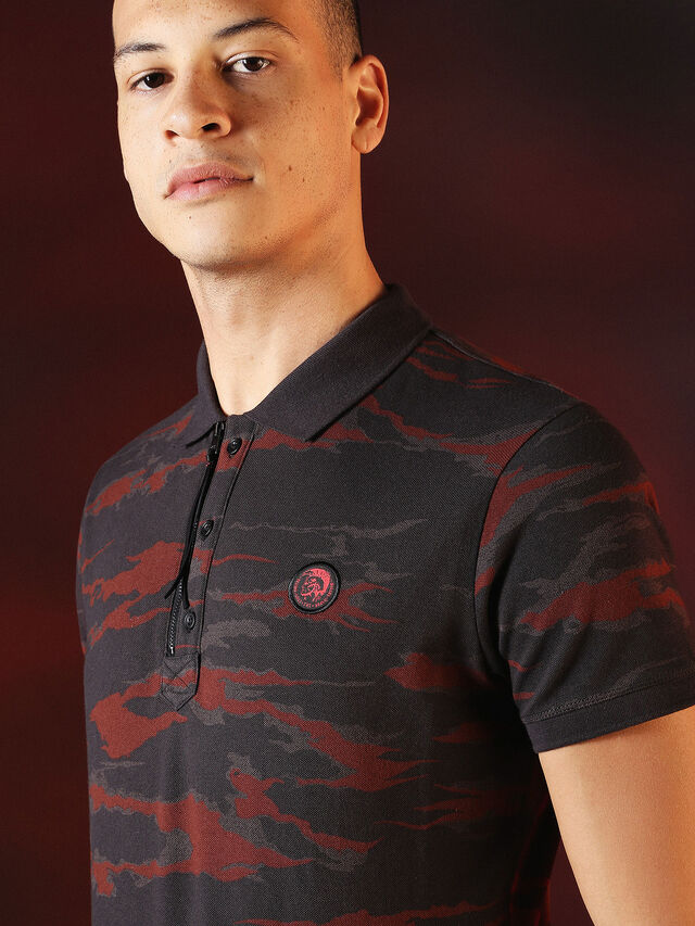 Diesel - DVL-POLO-SPECIAL COLLECTION, Rot/Schwarz - Polohemden - Image 6