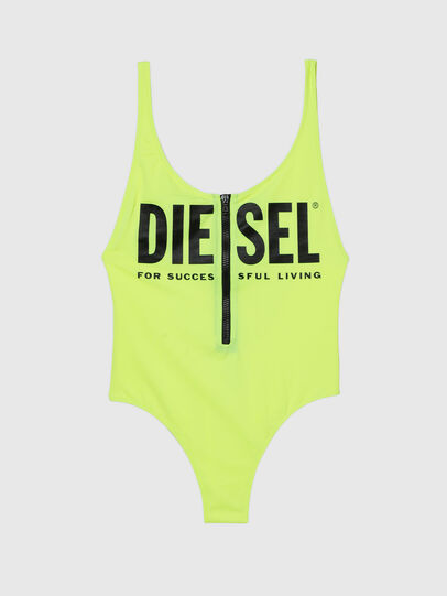 Diesel - BFSW-LIAZZ, Vert Fluo - Maillots de Bain - Image 4