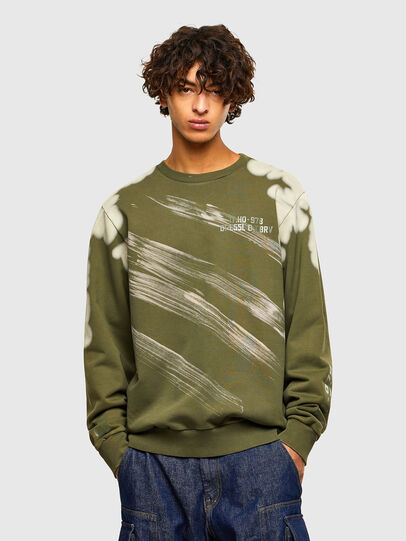 Diesel - S-GIRK-A62, Military Green - Sweaters - Image 1