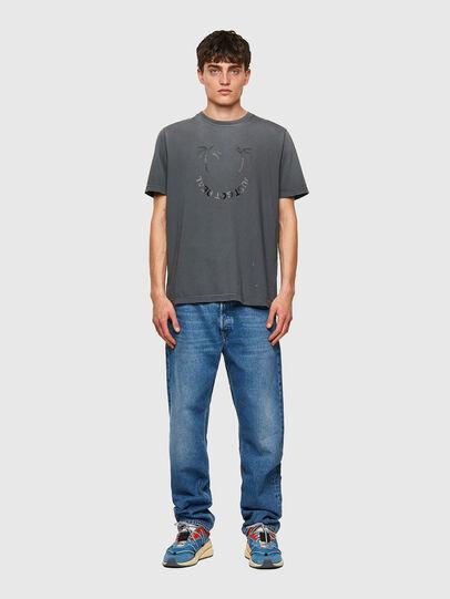 Diesel - T-JUST-B64, Grigio - T-Shirts - Image 4