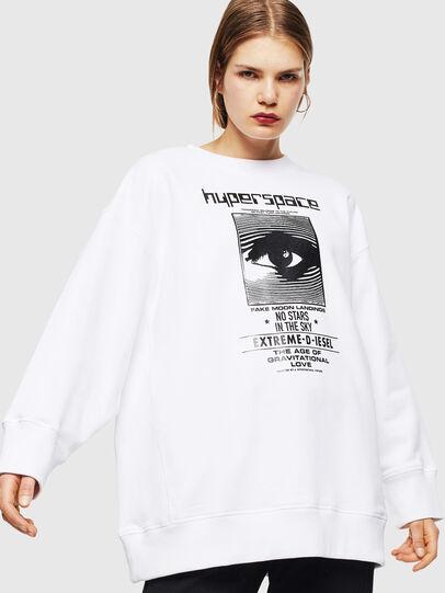Diesel - F-AKUA, Weiß - Sweatshirts - Image 1