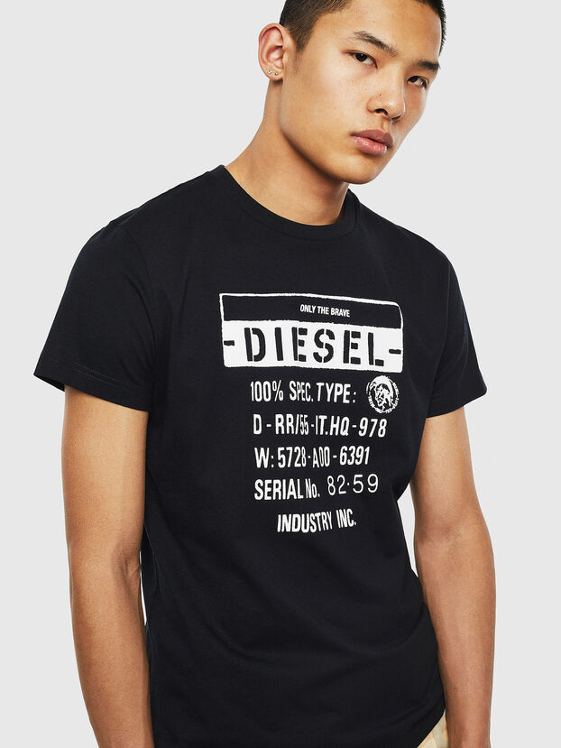 T-DIEGO-S1, Schwarz - T-Shirts