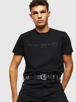 T-DIEGO-SLITS-J6, Schwarz - T-Shirts