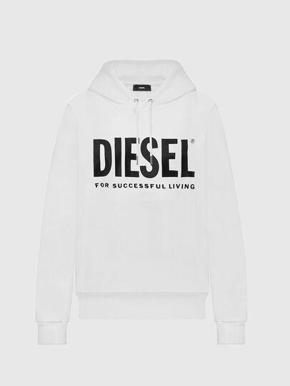 Diesel - F-ANG-HOOD-LOGO, Weiß - Sweatshirts - Image 1