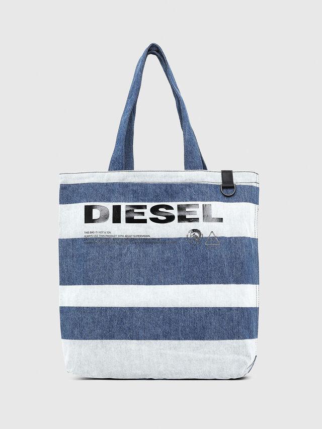 Diesel - F-THISBAG SHOPPER NS, Jeansblau - Shopper und Schultertaschen - Image 1