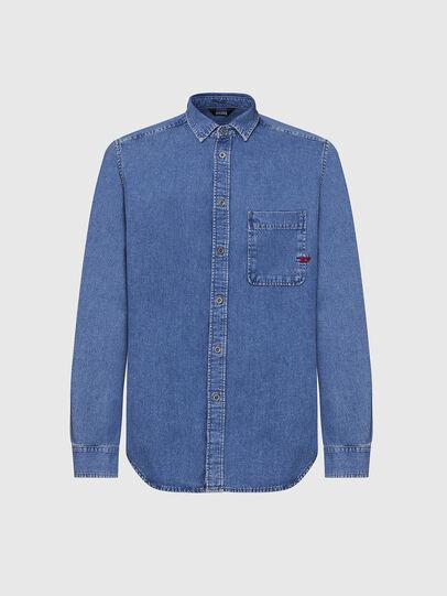 Diesel - D-BILLY, Blu Chiaro - Camicie in Denim - Image 1