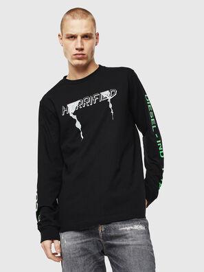 T-JUST-LS-VINT, Schwarz/Weiß - T-Shirts
